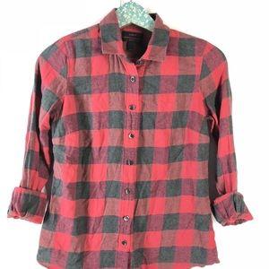 J. Crew Perfect Shirt Red Buffalo Plaid